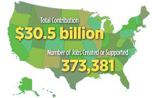 From NAFSA International Student Economic Value Tool: http://bit.ly/1LI3Z9F