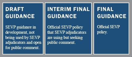 SEVP guidance